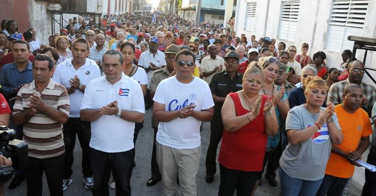 Honra a los mártires guantanameros del 4 de agosto.