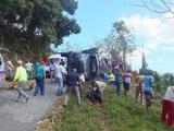 De vuelta a casa 13 lesionados en accidente en la Gran Piedra