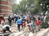 Fuerte terremoto de magnitud 7,1 sacude la Ciudad de México, a 32 años del gran sismo de 1985