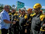 Díaz-Canel presencia ejercicio de rescate tras sismo en día final del Meteoro 2018