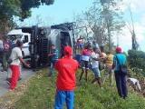 Reportan 20 personas heridas en accidente automovilístico en La Gran Piedra
