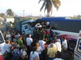 Accidente de tránsito en Sancti Spíritus provoca un muerto y 27 lesionados