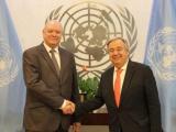 Secretario General de la ONU recibe a Rodrigo Malmierca
