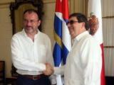 Recibe canciller cubano a su homólogo mexicano