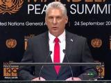 """""""Actos más que palabras; cooperación, no intervención"""", pide Díaz-Canel en Cumbre de Paz"""