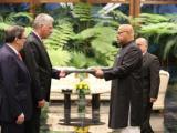 Recibió presidente cubano las Cartas Credenciales de nuevos embajadores