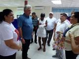 Recorre Díaz-Canel parte de las obras reanimadas en Vueltabajo