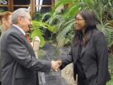 Recibió Raúl a la Primera Ministra de Namibia